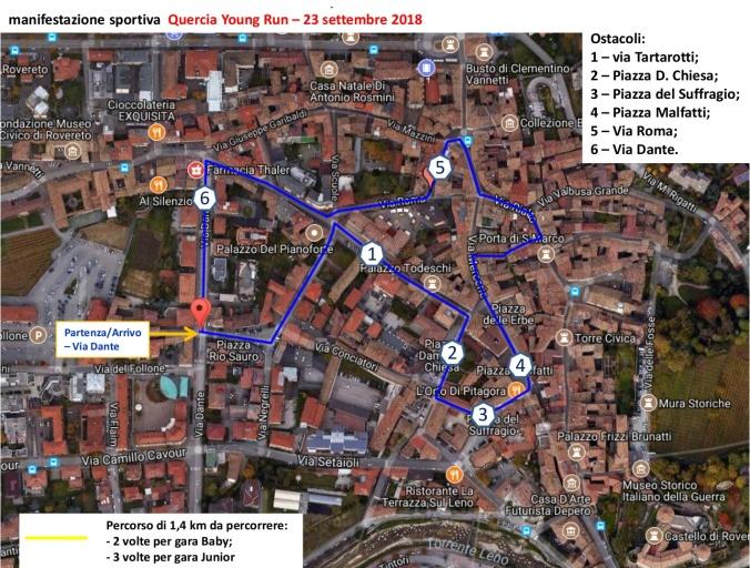 Planimetria percorso QYR 2018